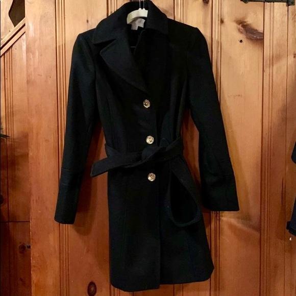 Michael Kors Jackets & Blazers - Michael Kors wool dress coat wrap belt S